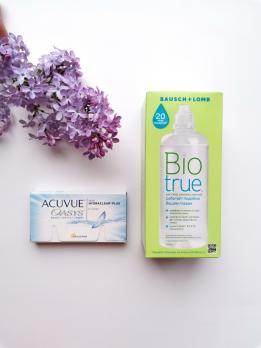 Контактные линзы Acuvue Oasys + раствор Biotrue
