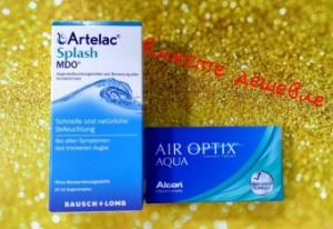 """Контактные линзы AIR OPTIX Aqua+Капли для глаз Артелак Всплеск (флакон)+Сертификат в салон сети оптик """"ВИСУС"""" на 20 руб"""